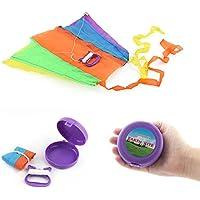dangslxm美しい虹Large Easy Flyer Kite supplestポケットカイトおもちゃCollapsible Kite for Kid子大人