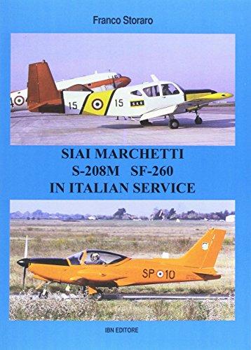 Siai Marchetti S-208M SF-260. Testo inglese a fronte