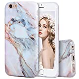 Imikoko iPhone6 6s ケース iPhone 6 6s case 大理石 マーブルストーン ソフトtpu アイホン6 6sケース おしゃれ 可愛い 4.7インチ (iPhone 6, White Grey)