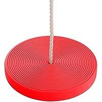 Toyment 円盤型ブランコ子ども用、 セット、回転 取付かんたん、室内外遊び (レッド)