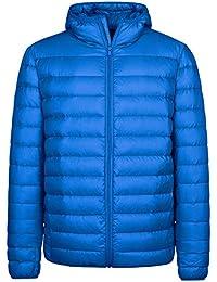 Wantdo メンズ ダウンジャケット 軽量 フード付き ライトアウター ライトダウン 無地 軽い 大きいサイズ