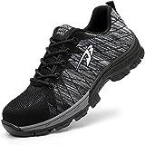 [Aoop] 安全靴 作業靴 メンズ レディーススニーカー 登山靴 防滑 通気 耐磨耗 衝撃吸収 四季通用