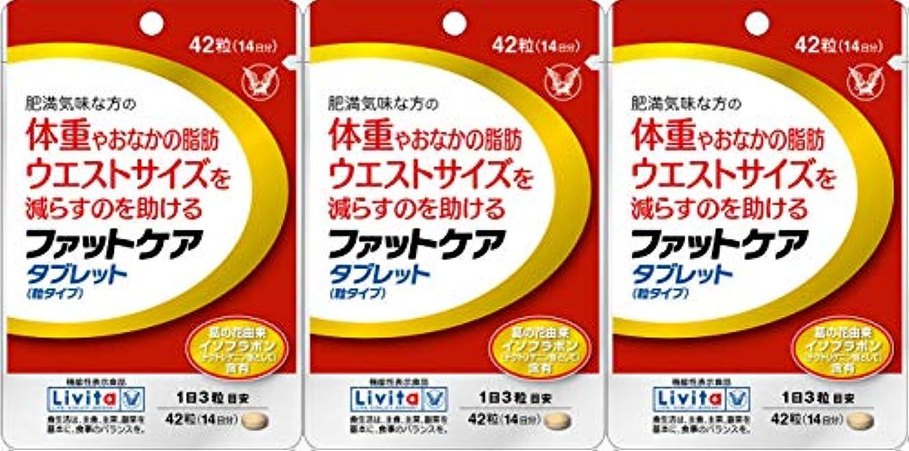 ベルト原稿保持【3個セット】ファットケア タブレット 42粒(機能性表示食品)