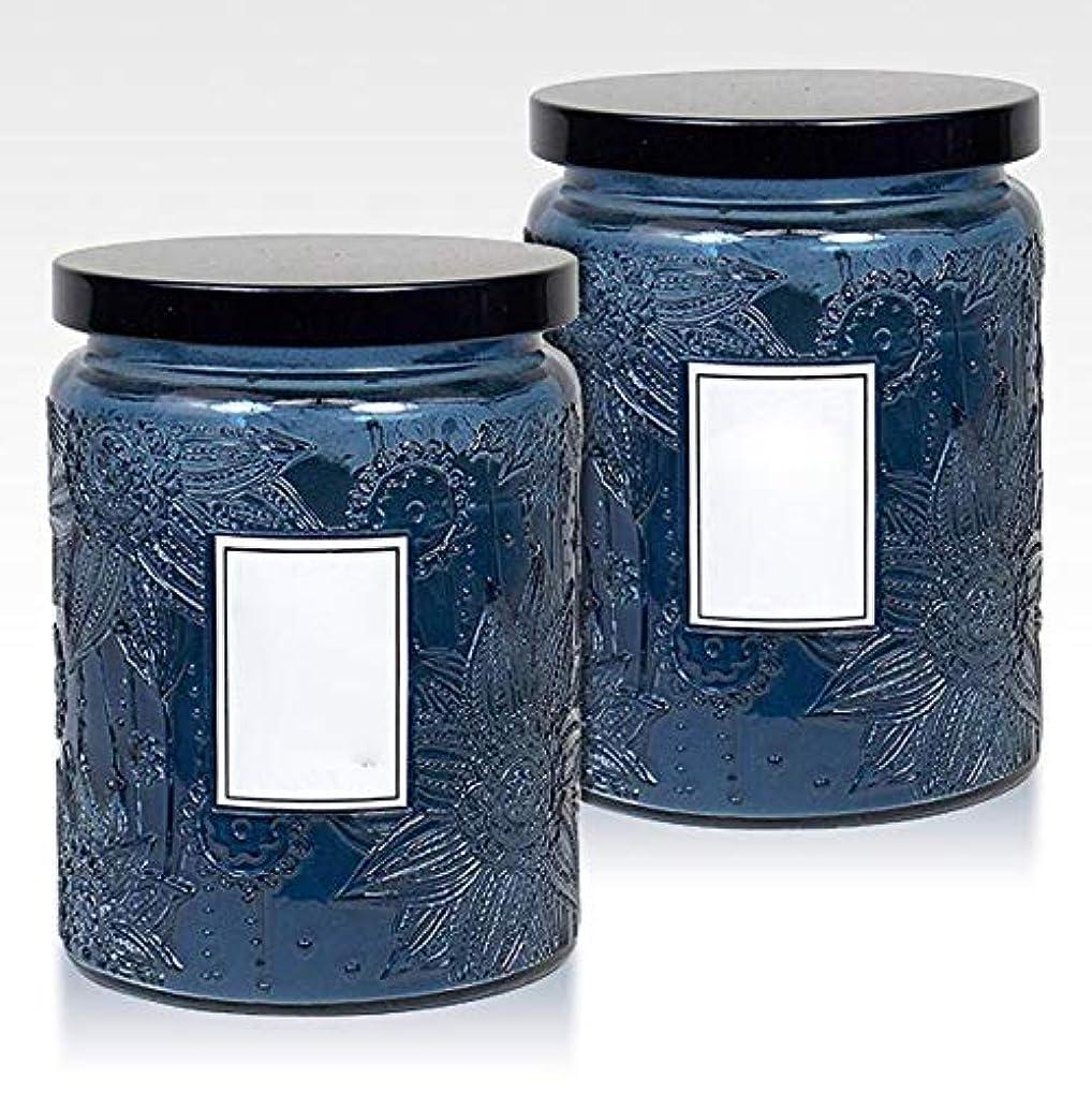 美容師パッチ石灰岩16Oz大きい缶2つの中心の香料入りの蝋燭の環境に優しい植物の精油の大豆のワックスの無煙蝋燭セット(5箱)