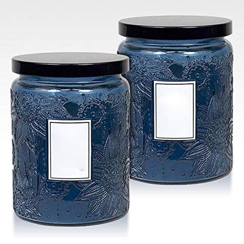 リハーサル弱い宿泊施設16Oz大きい缶2つの中心の香料入りの蝋燭の環境に優しい植物の精油の大豆のワックスの無煙蝋燭セット(5箱)