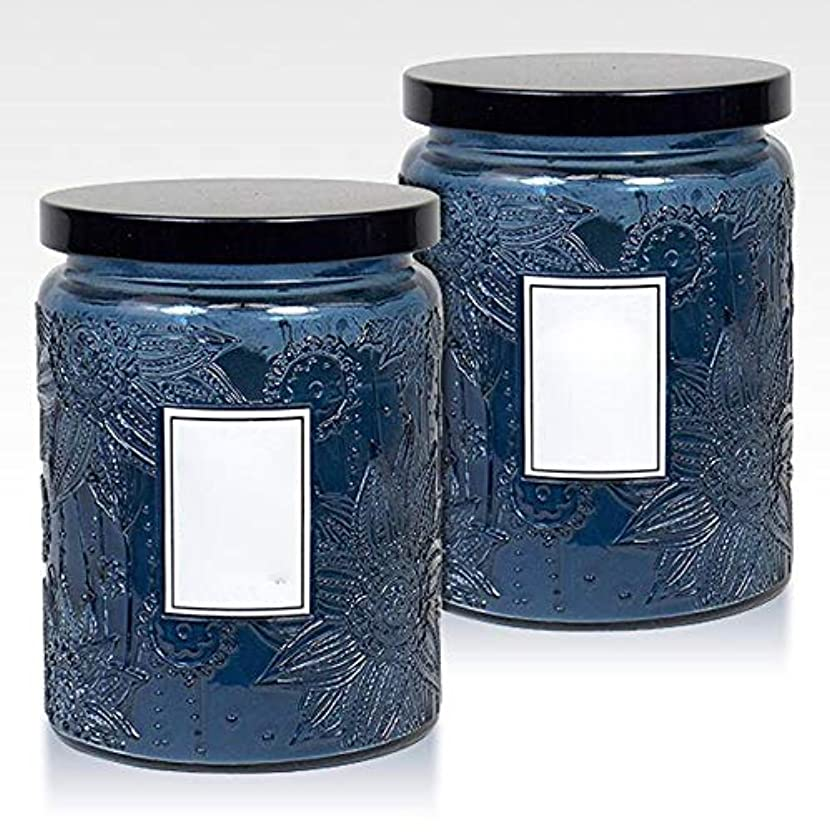 バラ色ではごきげんよう明らか16Oz大きい缶2つの中心の香料入りの蝋燭の環境に優しい植物の精油の大豆のワックスの無煙蝋燭セット(5箱)