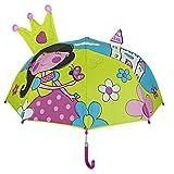 子供傘女の子の漫画のパターン子供の日の傘UVプロテクションビーチパラソル新しい防水傘 (黄)