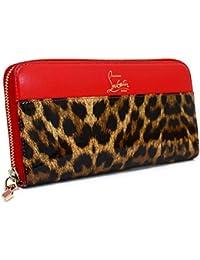 (クリスチャン ルブタン) Christian Louboutin ラウンドファスナー長財布 レオパード柄×レッド 1165070