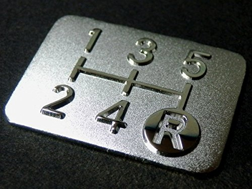 メッキ シフトパターン プレート 5速MT車用