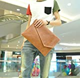 メンズ クラッチバッグ セカンドバッグ 手持ちカバン マイクロファイバークロスセット (ヴィンテージブラウン)