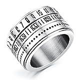 Rockyu ジュエリー ブランド 人気 リング メンズ レディース シルバー スポーティー ファッション チタン 指輪 20号