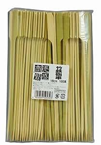 大和物産 竹串 商売繁盛 鉄砲串 100本 18cm