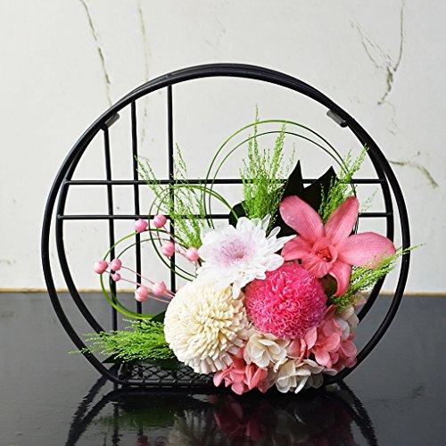 和風プリザーブドフラワー 桃音 優しいホワイト&ピンク 誕生日 還暦 喜寿 米寿 白寿 傘寿 古希