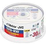 ビクター 映像用DVD-RW デジタル録画対応 2倍速 ワイドホワイトプリンタブル 30枚 VD-W120P30V