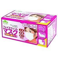 (まとめ買い)東京サラヤ フェイスフィットマスク 小さめ 50枚 【×40セット】
