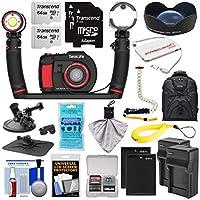SeaLife DC2000 Pro Duo HD 水中デジタルカメラ Sea Dragon 3000ライト/フラッシュセット& 0.75x広角レンズ + (2) 64GBカード + バッテリー & 充電器 + バックパックキット
