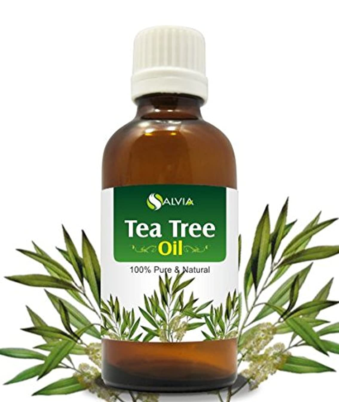 山積みの謎責TEA TREE OIL 100% NATURAL PURE UNDILUTED UNCUT ESSENTIAL OIL 15ML