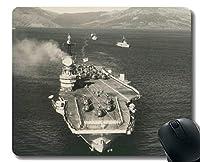 ステッチエッジ付きマウスパッド、軍用HMSアークロイヤル(R09)軍艦滑り止めラバーゲームマウスパッド