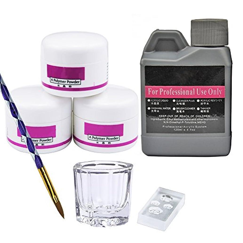 液化する継続中準備するユニークモール(UniqueMall)アクリルカラーパウダーリキッド ネイルアート ネイルデコネイルセット人気なセット 母の日 プレゼント