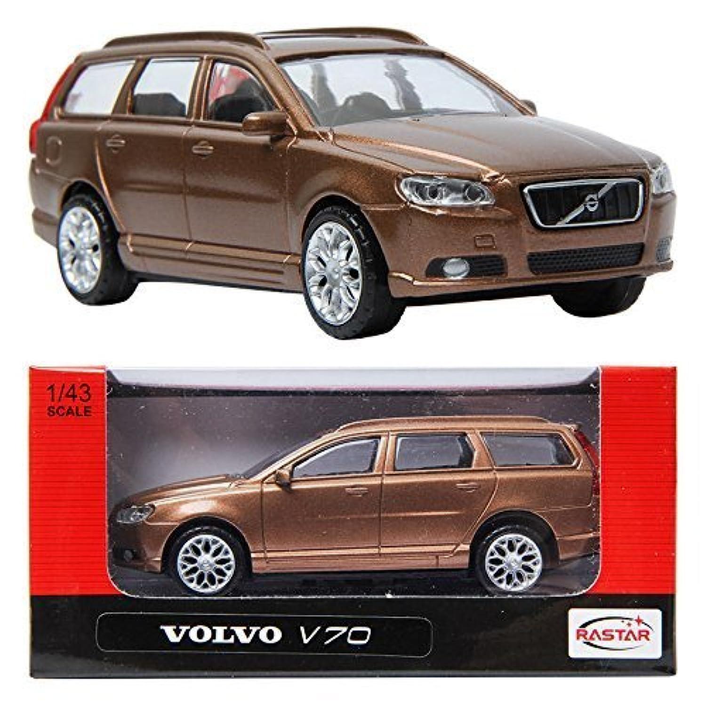RASTAR VOLVO V70 Brown 1:43 ダイキャストカーミニ車のおもちゃ [並行輸入品]