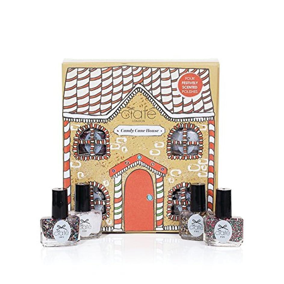 情緒的めまいがペアCiate London シアテロンドン キャンディーケイン ハウス Candy Cane House 香り付き ネイル ポリッシュ 5mL×4本入りセット