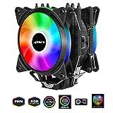 Novonest サイズオリジナル設計 120mm デュアルサイドフロー型CPUクーラー RGBファンを搭載した 静音 [Intel/AMD両対応]【AC12RGB】