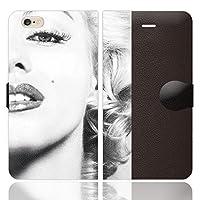 iPhone6S iPhone6 手帳型 ケース カバー MARILYN mod02 ブレインズ マリリンモンロー マリリン モノクロ セクシー sexy 写真 白黒