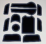 KINMEI(キンメイ) HONDA JADE ジェイド ハイブリッド 青 専用設計 インテリア ドアポケット マット ドリンクホルダー 滑り止め ノンスリップ 収納スペース保護ja-b
