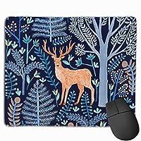 鹿と森 マウスパッド ゲーミング ゲームオフィス 高級感 おしゃれ 防水 耐久性が良い 滑り止めゴム底 適用 マウスの精密度を上がる