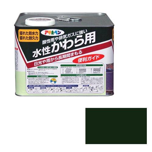 アサヒペン 水性かわら用 ツヤ有り I緑7l