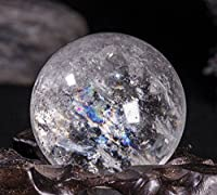 【Yippee】 天然石 水晶 丸玉 透明水晶 原石クォーツ 石輝 レインボークリスタル パワーストーン