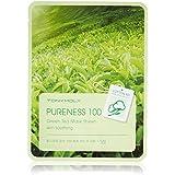 TONYMOLY Pureness 100 Green Tea Mask Sheet Skin Soothing (並行輸入品)