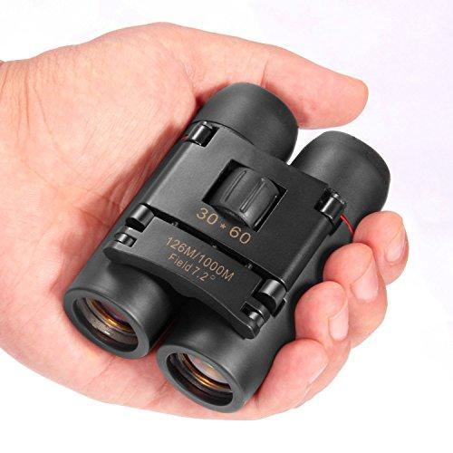 QVONTON (キュワントン) 双眼鏡 10倍高倍率 超ミニ コンパクト双眼鏡 30x60 折り畳み双眼鏡 オペラグラス 望遠鏡 小型 軽量 防水 広角 【BaK4プリズムでコンサートホールでもブルーレイ画質を】ポケットに収納でき コンサート用 ドーム アウトドア 遠足 旅行 登山 (ブルー)