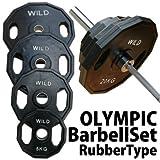 [WILD FIT ワイルドフィット]オリンピック バーベルセット273kg