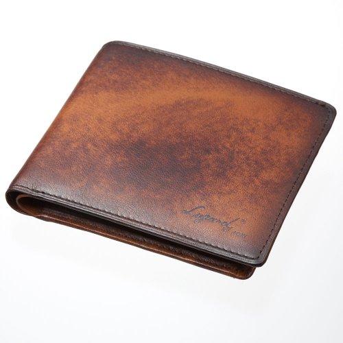 LuggageAOKI 青木鞄 Lugard G3 ラガード ジースリー 二つ折り 短財布 ショートウォレット 小銭入れ付き 日本製 本革 ブラウン 5205-50