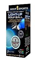 Night Sports USA Light Up Golf Ball (3-Pack) [並行輸入品]
