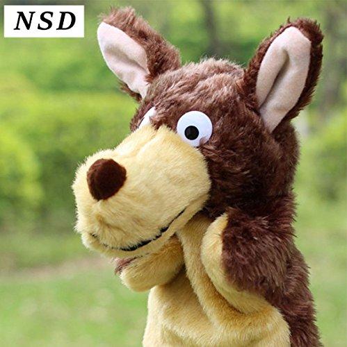 NSD かわいい アニマル パペット 人形 ぬいぐるみ (おおかみ)