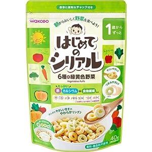 和光堂 1歳〜ずっと はじめてのシリアル 6種の緑黄色野菜 40g