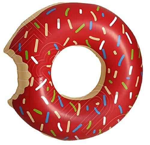 (コズミックツリー) COSMIC TREE sweet swim ring スウィーツ 浮き輪 シリーズ ピンク フラミンゴ ドーナツ ストロベリー イチゴ パイナップル ソフトクリーム ピザ プレッツェル (チョコドーナツ 120)