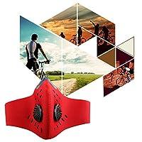 A-szcxtop 高性能 防塵 マスク サイクリング バイク アウトドアスポーツ 快適 ダストシールドマスク 活性炭フィルター PM2.5 花粉や風邪 アレルギー対策 ほこり 対応用 防風 保温 通気性 レッド