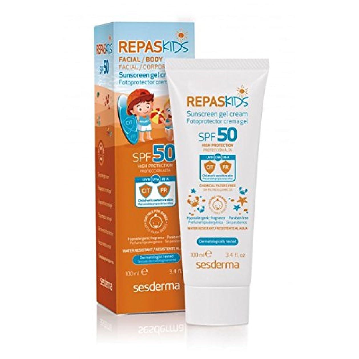 ウェイターエピソード型Sesderma Repaskids Sunscreen Gel Cream Spf50 100ml [並行輸入品]