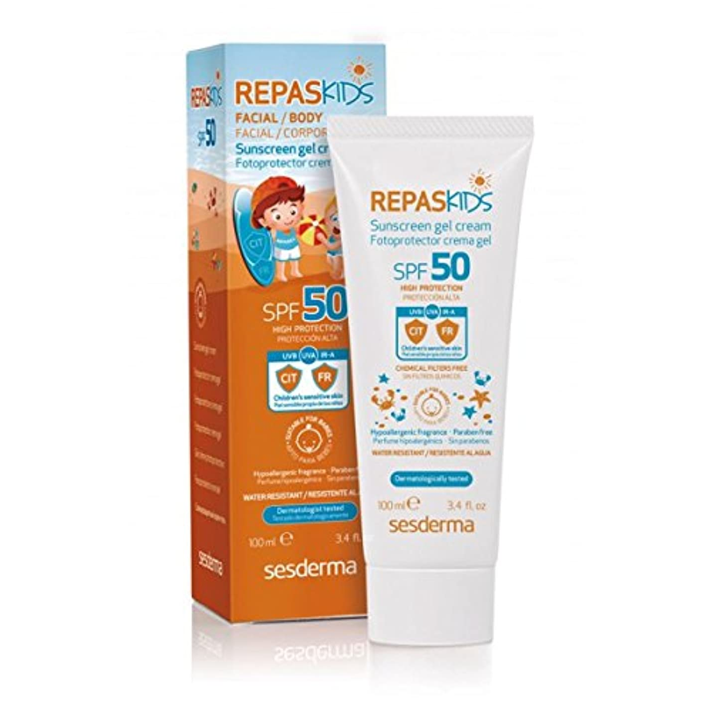 ハウス情緒的収入Sesderma Repaskids Sunscreen Gel Cream Spf50 100ml [並行輸入品]