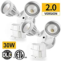 2 Pack 30W LED Security Light Motion Outdoor, Motion Sensor Light Outdoor, Dual-Head, 2500LM 5000K Waterproof IP65, ETL Flood Lights [並行輸入品]
