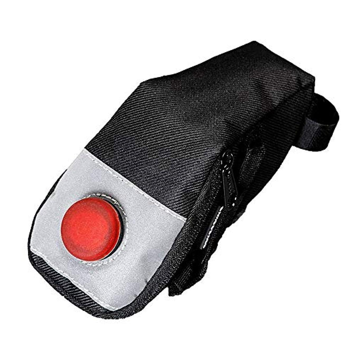 減少東部フルート自転車シートパックバッグ 屋外サイクリング用テールライトフック付きマウンテンバイクシートパックバッグ 自転車サドルバッグ (Color : Black 1, Size : 18.5*6*8.5cm)