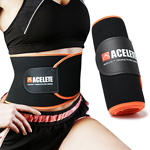 ACELETE シェイプアップベルト 発汗ダイエットベルト お腹引き締め 腰サポーター