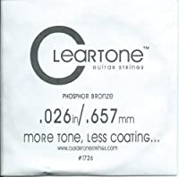 [Cleartone] クリアトーン アコースティック・ギター弦 バラ弦 .026