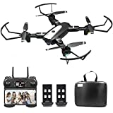 B-Qtech Drone with Camera, 4K HD Foldable WiFi RC Quadcopter for Adults & Kids, 30 Min Long Flight Time, One Key Return, Live