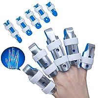 1 個指スプリントアルミ & 泡ための指/捻挫/骨折/疼痛緩和/指ナックル固定化 C1480-2