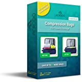 (Pack Of 10) - Acrodo Space Saver Compression Bags 10-pack for Packing and Storage - No Vacuum Rolling Ziplock for Clothing,