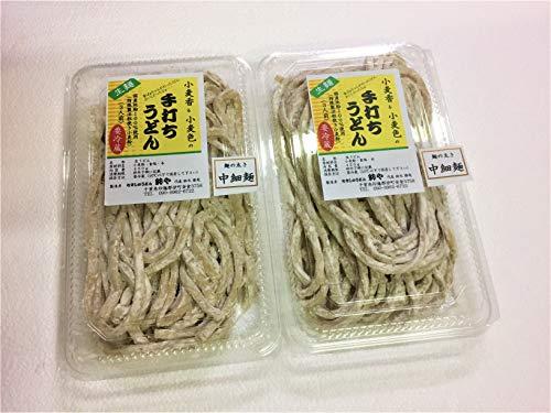 むさしのうどん鈴や 無添加・全粒粉・生麺 細麺 (つゆ無し, 2パック(約900g))